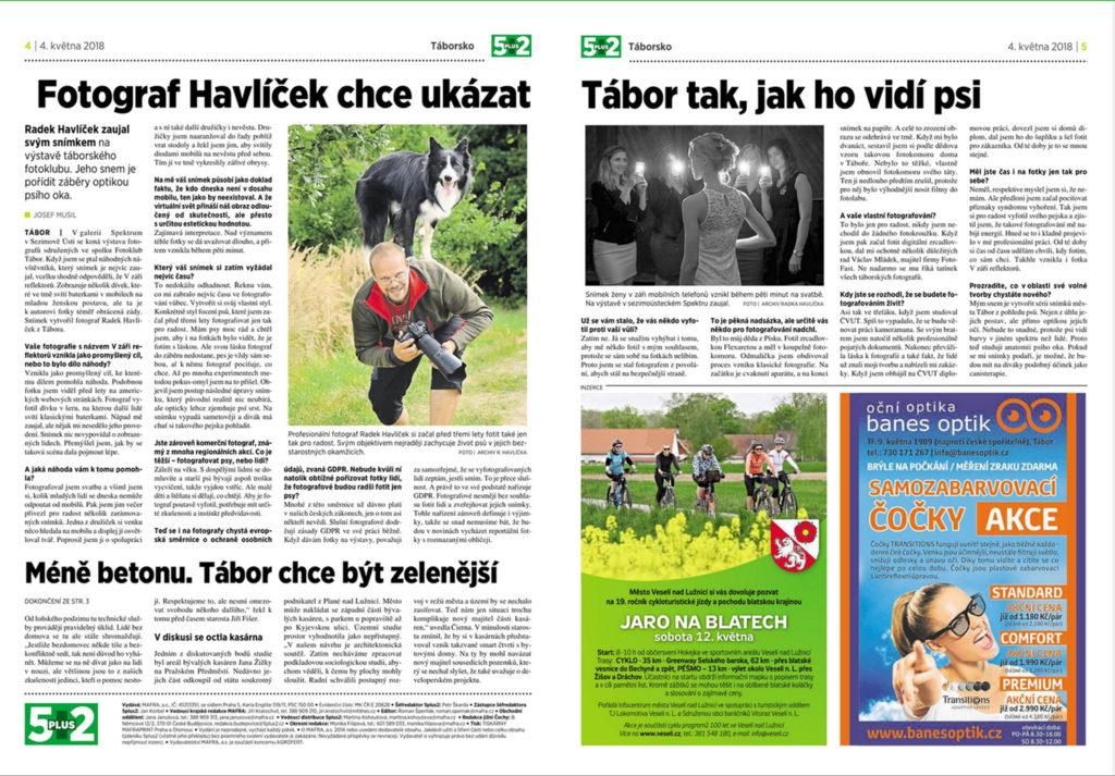 Rozhovor v novinách 5+2 o fotografování